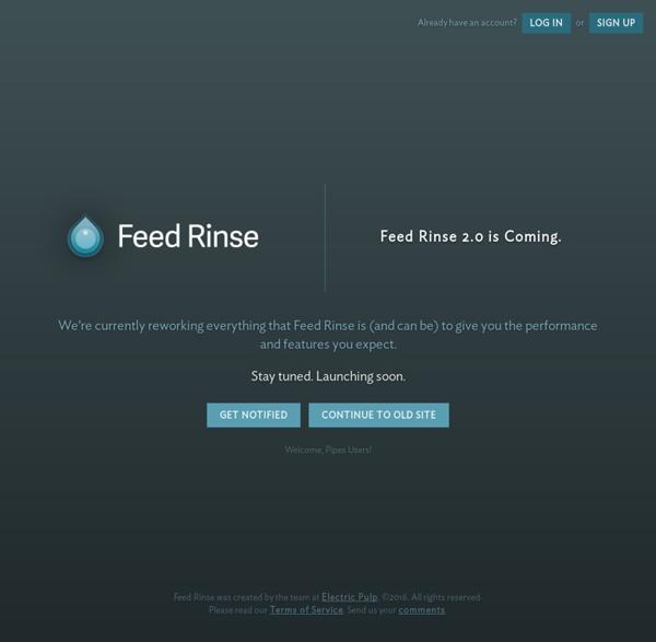 Feed Rinse