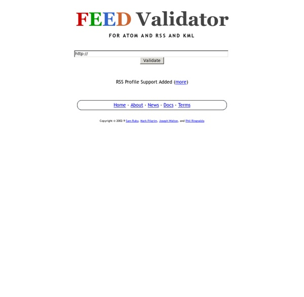 Feed Validator for Atom and RSS