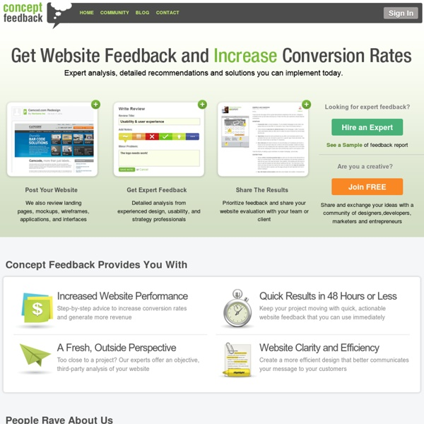 Get Expert Website Feedback and Increase Conversions