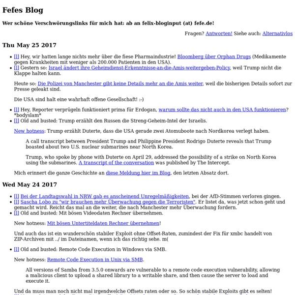 Fefes Blog