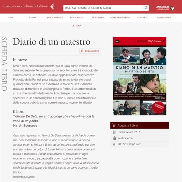 Vittorio De Seta - Diario di un maestro - Film Feltrinelli Editore - Real Cinema - 9788807740770