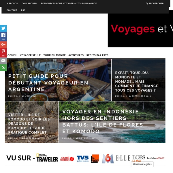 Voyages et Vagabondages Blog Voyage en Solo et au Féminin