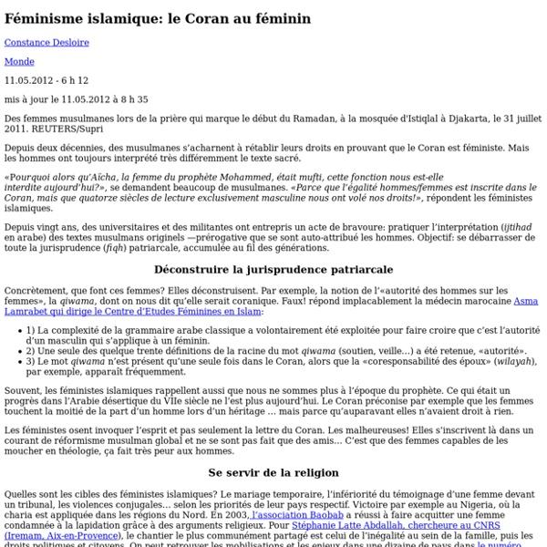 [French] Féminisme islamique: le Coran au féminin