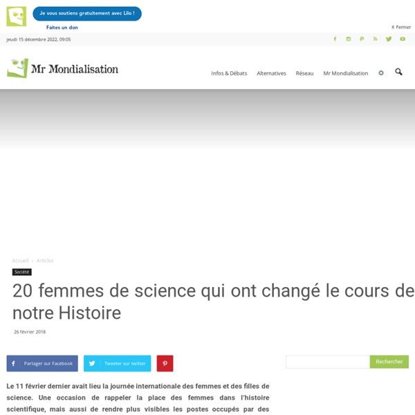 20 femmes de science qui ont changé le cours de notre Histoire