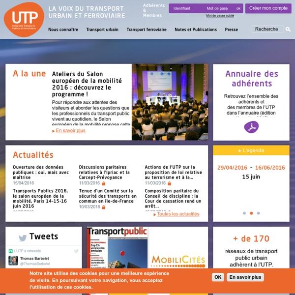UTP - Union des Transports Publics et Ferroviaires