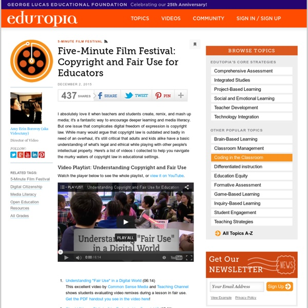 Five-Minute Film Festival: Copyright and Fair Use for Educators