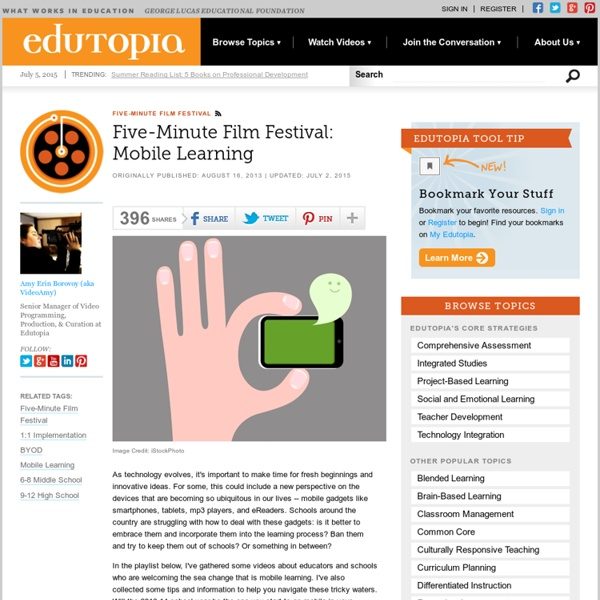 Five-Minute Film Festival: Mobile Learning