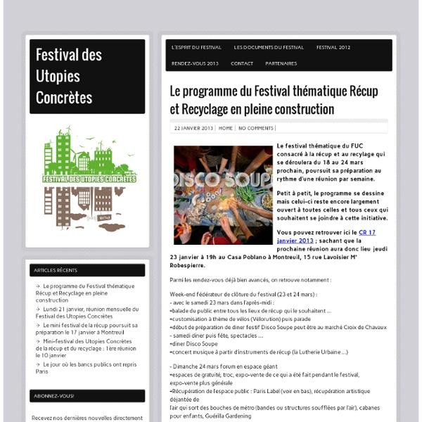 27-28 septembre, quais de seine à paris (péniche antipode). Metro : Stalingrad, Jaures, Laumiere, Riquet