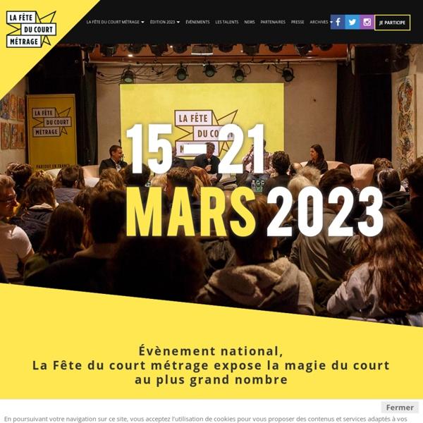 La Fête du court métrage 2020 - du 25 au 31 Mars