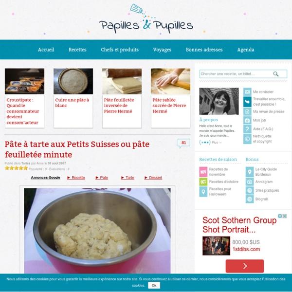 Pâte feuilletée aux petits suisses ou pâte feuilletée minute