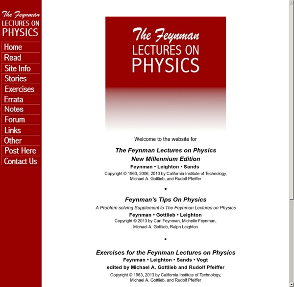 The Feynman Lectures on Physics Website