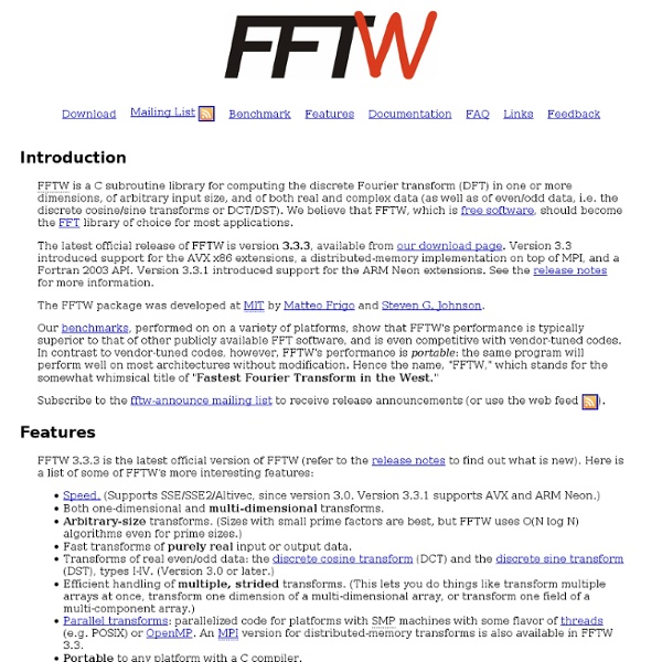 FFTW Home Page