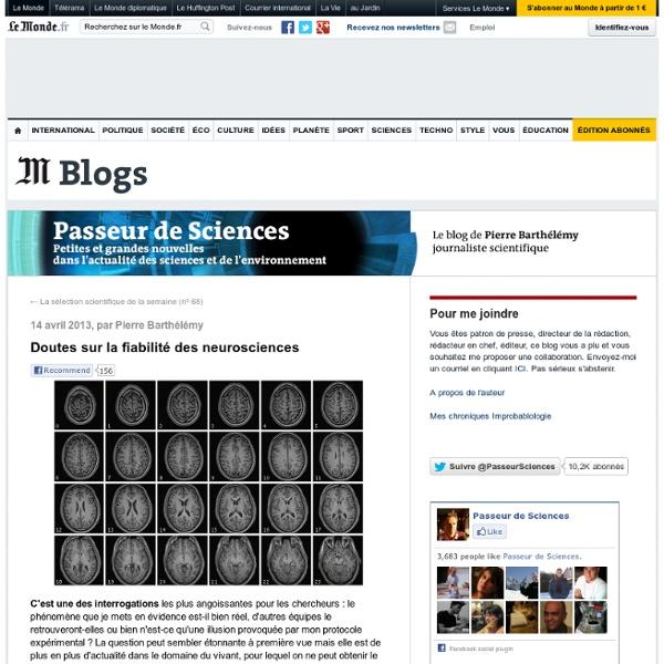 Doutes sur la fiabilité des neurosciences
