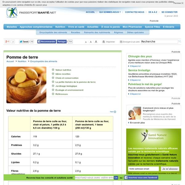 Pomme de terre : riche en fibres, en vitamines et minéraux