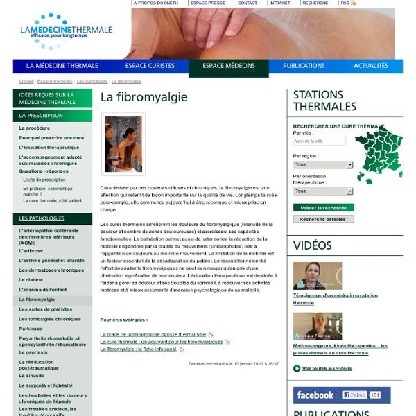 La fibromyalgie - Thermes et cures thermales en France