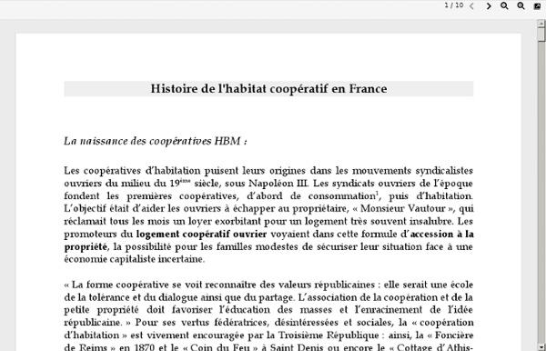 Histoire de l'habitat coopératif en France