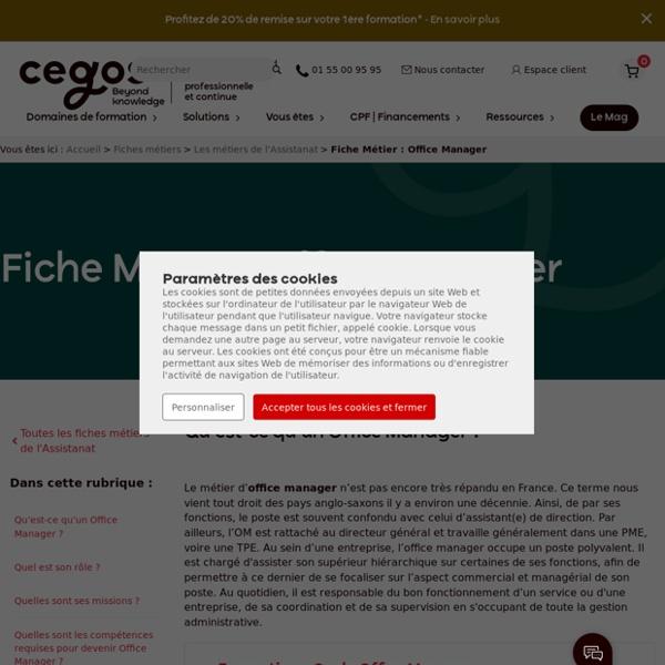 Fiche Métier : Office Manager