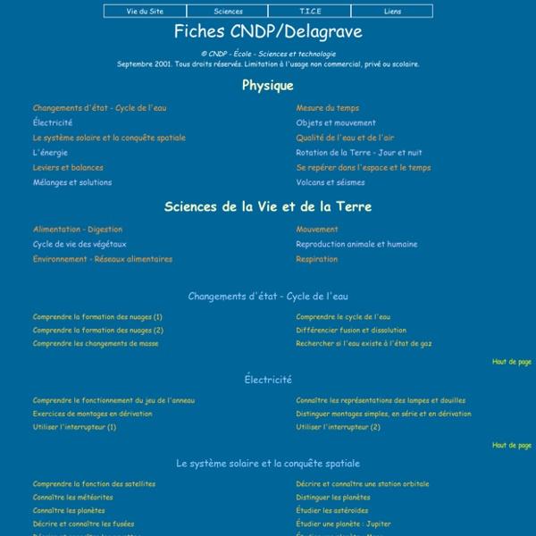 Fiches CNDP/Delagrave