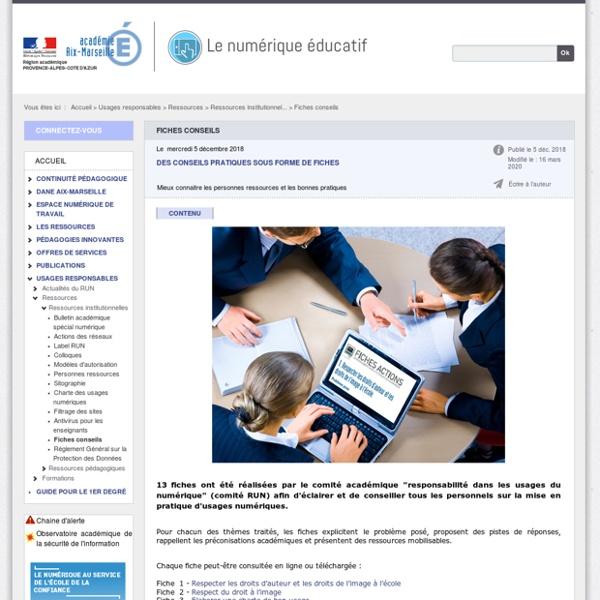 Fiches actions - Le numérique éducatif
