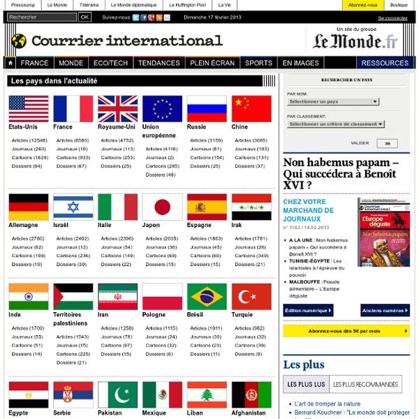 Les fiches pays du Courrier international