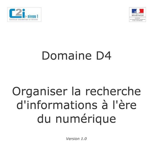 4. Organiser la recherche d'informations à l'ère du numérique