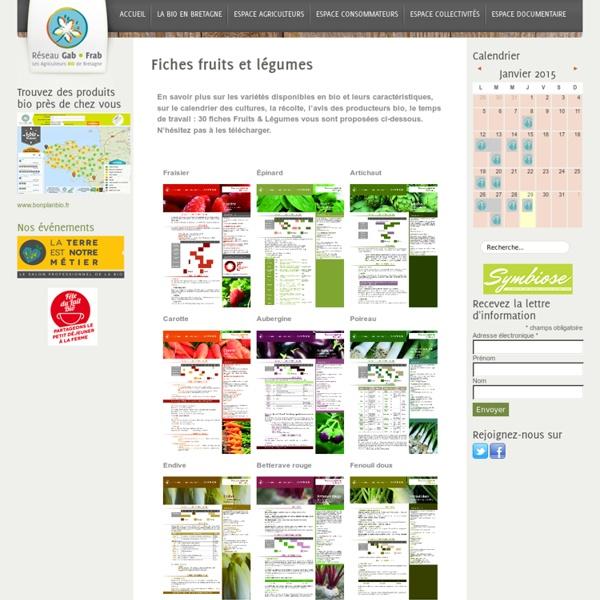 Fiches fruits et légumes