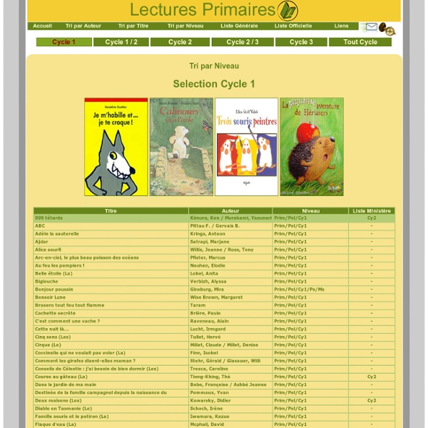 Lectures-primaires