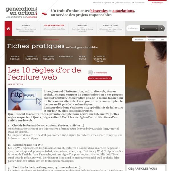 Fiches pratiques; écriture web