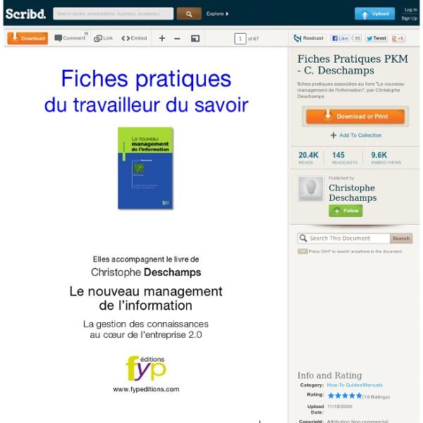 Fiches Pratiques PKM - C. Deschamps