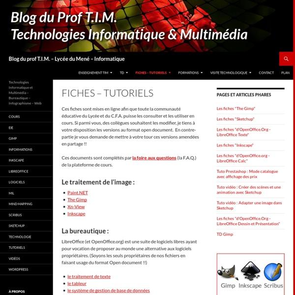 Blog du prof T.I.M. – Lycée et C.F.A. du Mené – Informatique
