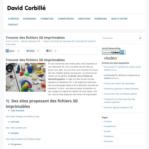 Fichiers 3D imprimables