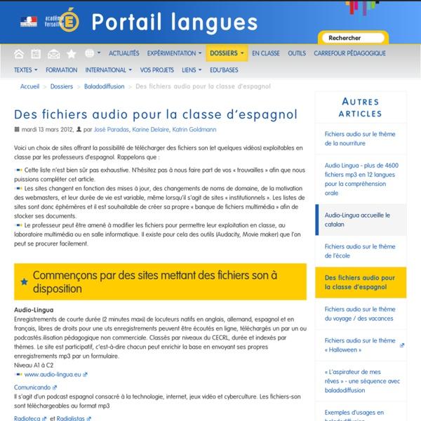 Des fichiers audio pour la classe d'espagnol