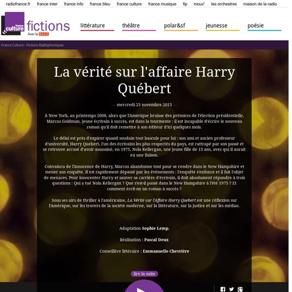 Les fictions radiophoniques de France Culture