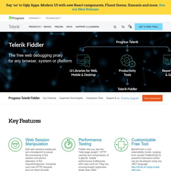 Fiddler free web debugging proxy