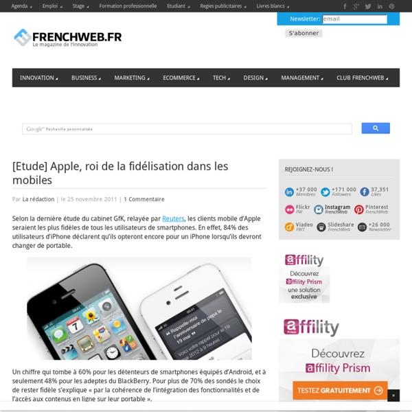 [Etude] Apple, roi de la fidélisation dans les mobiles