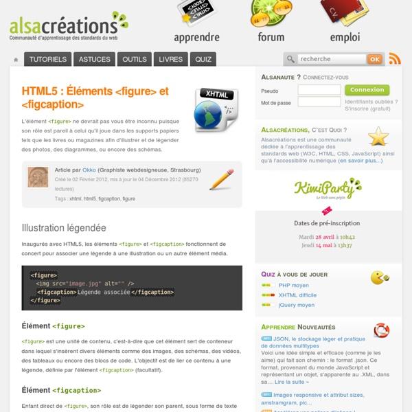 HTML5 : Éléments <figure> et <figcaption>