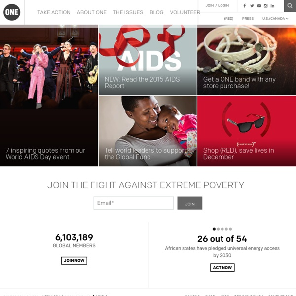 Join the fight against extreme poverty