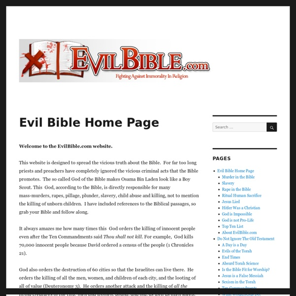 Evil Bible Home Page