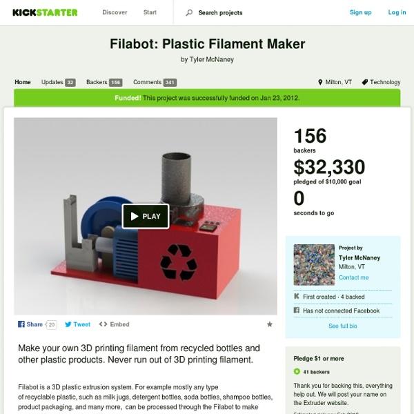 Filabot: Plastic Filament Maker by Tyler McNaney