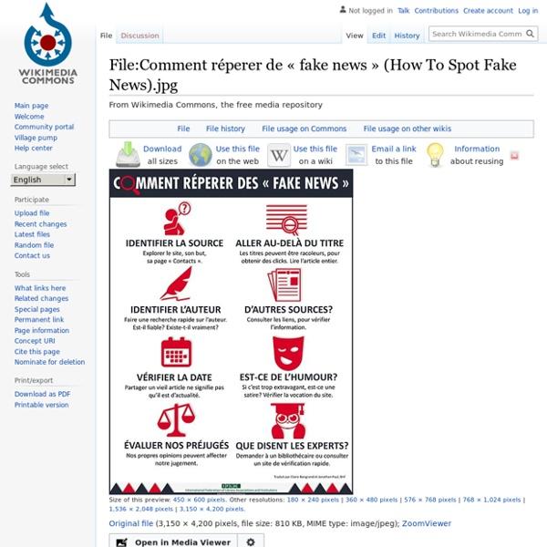 Fichier:Comment réperer de « fake news » (How To Spot Fake News).jpg