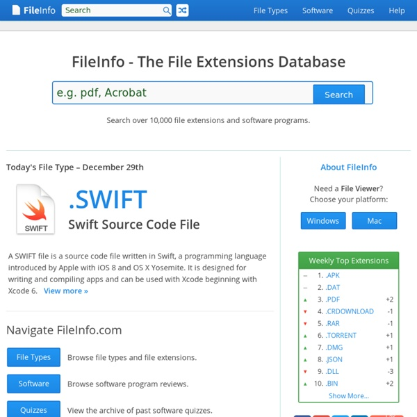 FileInfo.com - The File Extensions Resource