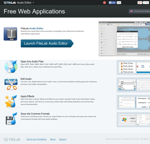 Audio Editor: easily edit your audio online for free.