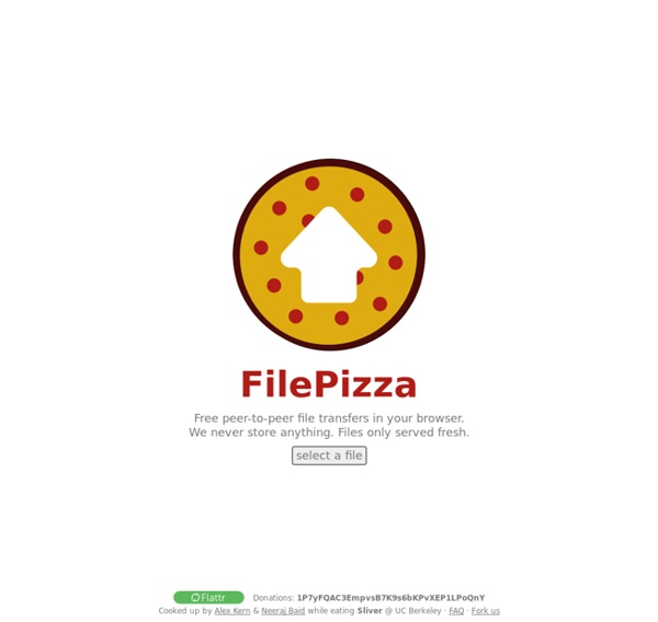 FilePizza - Your files, delivered.