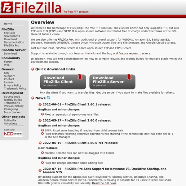 FileZilla - The free FTP solution