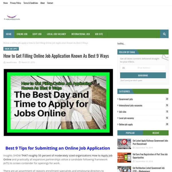 How to Get Filling Online Job Application Known As Best 9 Ways