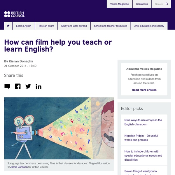 How can film help you teach or learn English?