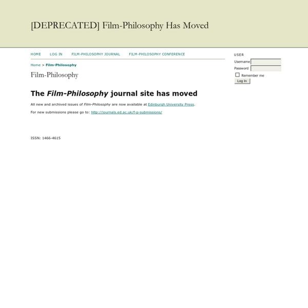 Film-Philosophy (en anglais)