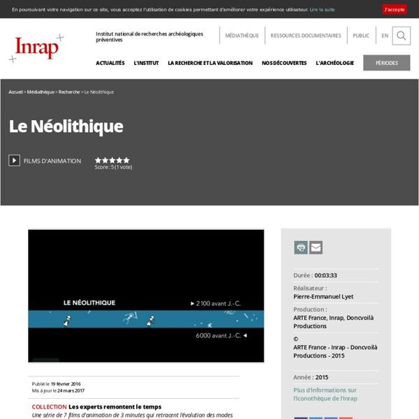 Films d'animation - Le Néolithique