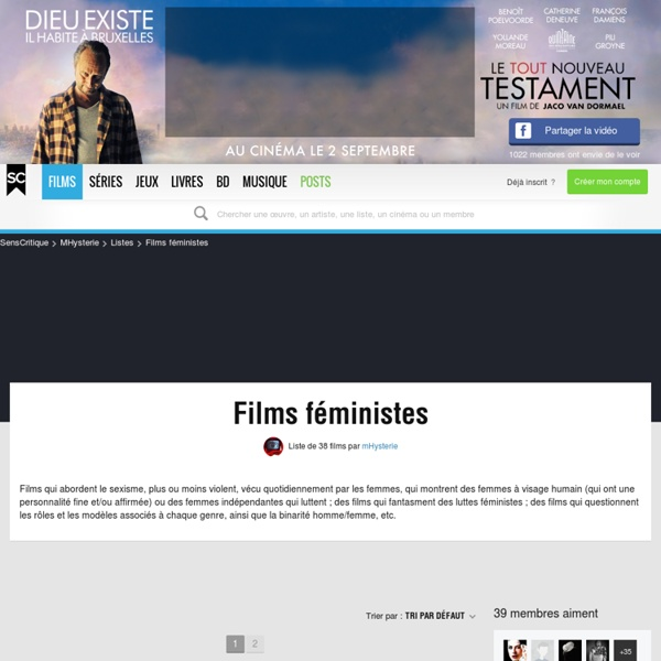 Films féministes - Liste de 31 films