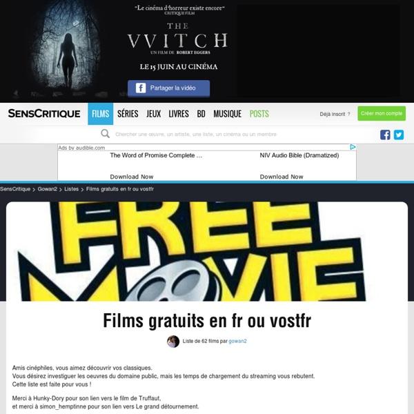 Films gratuits en fr ou vostfr - Liste de 31 films